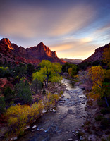 Zion Watchman Sunset